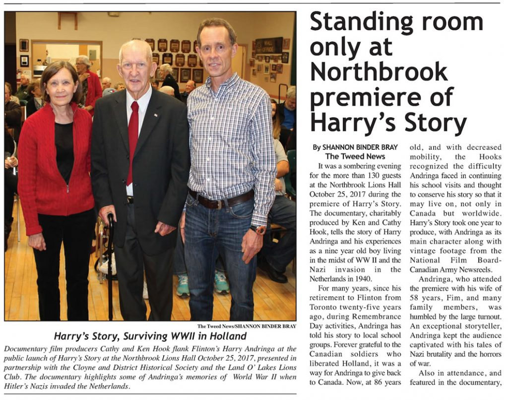 Tweed News - Harry's Story Launch at Northbrook Lions Hall